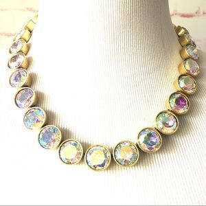 J. Crew Iridescent Crystal Brûlée Necklace NWT